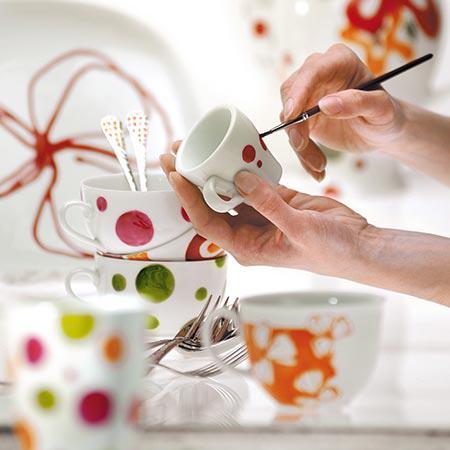 Porcelaine peintre OPAQUES COULEURS verre porcelaine peintre brillant