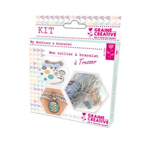 Kit de bijoux Océan - Mon collier & bracelet à Tresser