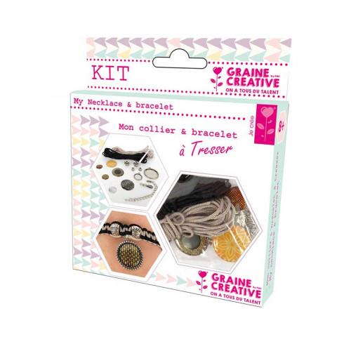 Kit de bijoux Bling Bling - Mon collier & bracelet à Tresser
