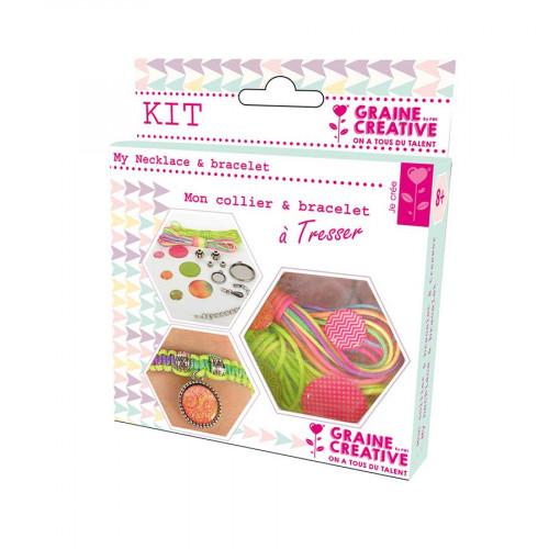 Kit de bijoux Rainbow - Mon collier & bracelet à Tresser