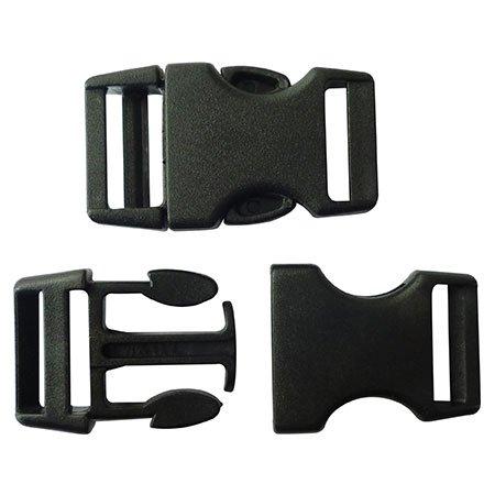 Clips plastique - noir - 15 mm - 10 pces