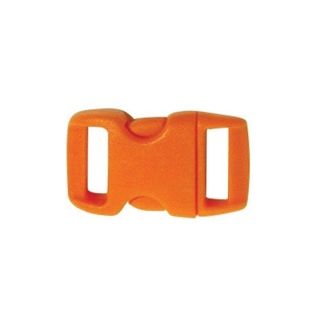 Clips plastique - orange - 10 mm - 10 pces