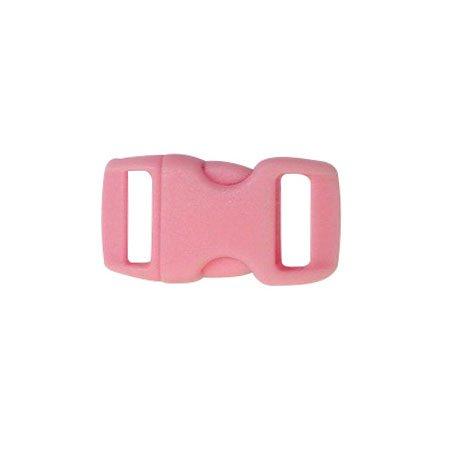 Clips plastique - rose - 10 mm - 10 pces