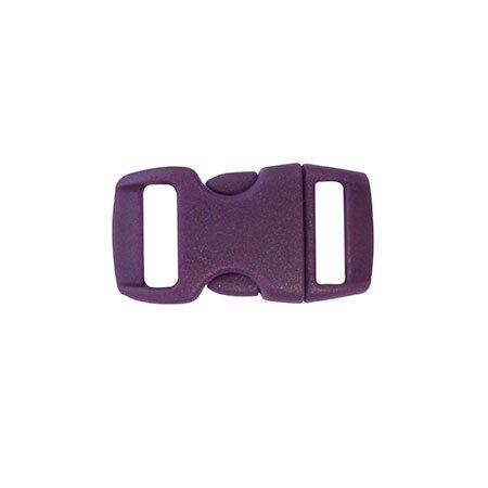 Clips plastique - violet -  10 mm - 10 pces