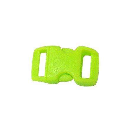 Clips plastique - vert - 10 mm - 10 pces