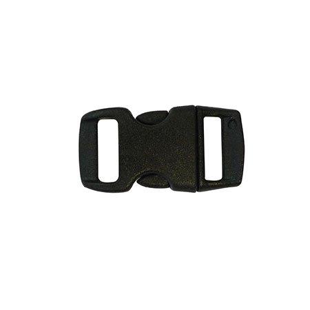 Clips plastique - noir - 10 mm - 10 pces