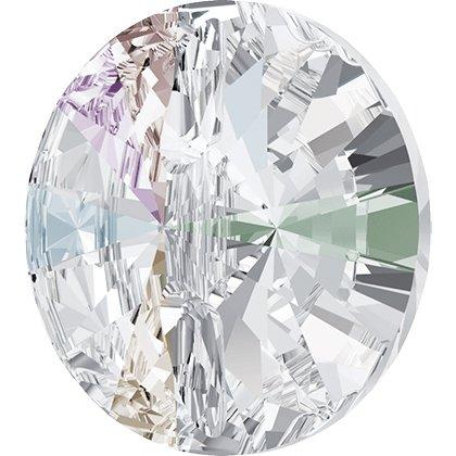 Bouton à coudre rond 3015 - 10 mm - Crystal Aurore Boreale