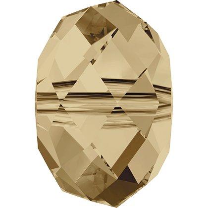 Perle briolette 5040 - 6 mm - Crystal Golden Shadow