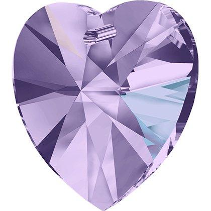 Pendentif cœur Xilion 6228 - 14 mm - Violet Aurore Boreale