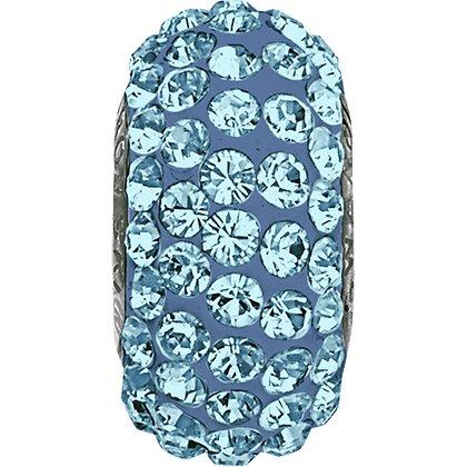 BeCharmed Pavé Slim 81101 - 13.5 mm - Aquamarine