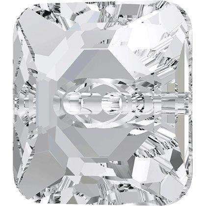 Bouton à coudre carré 3017 - 12 mm - Crystal