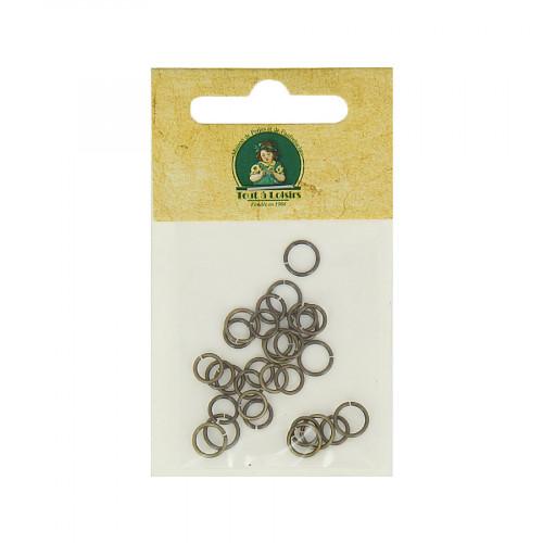 Assortiment d'anneaux brisés - Bronze - Taille aléatoire Ø de 5 à 7 mm