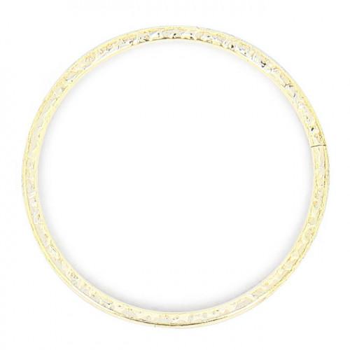 Anneau évidé - Argent brillant - 50 mm