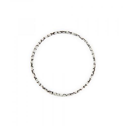 Anneau filigrané en métal - Argent - 4 cm