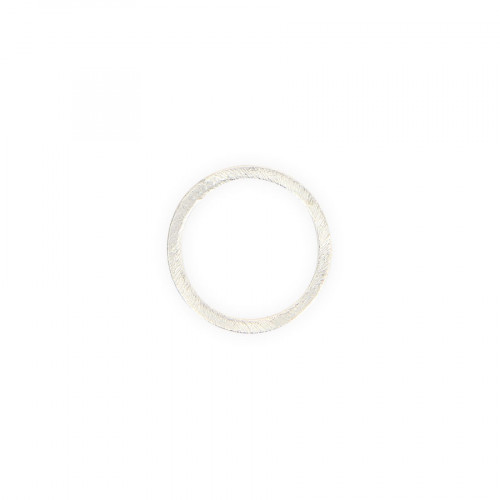Anneau en métal - Argent brillant - 2,5 cm