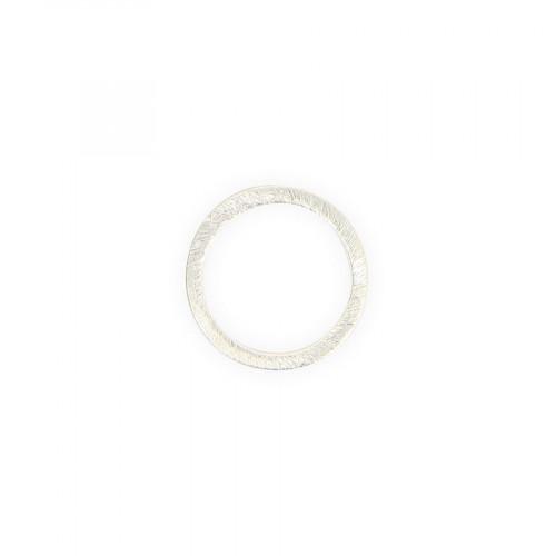 Anneau filigrané en métal - Argent brillant - 2 cm