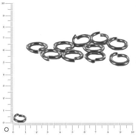 Anneau Ø 10 mm - Black nickel - lot de 10