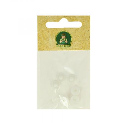 Embouts en cahoutchouc pour clips - Blanc - Ø 8 mm