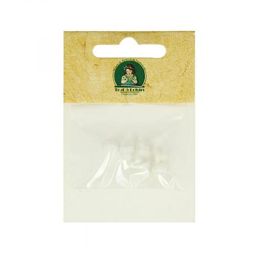 Embouts en cahoutchouc pour clips - Blanc - Ø 5 mm