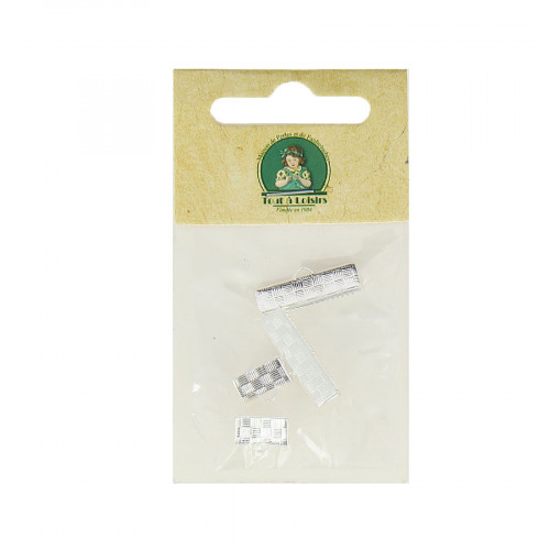 Assortiment d'embouts pour ruban - Argent - De 10 à 20 mm