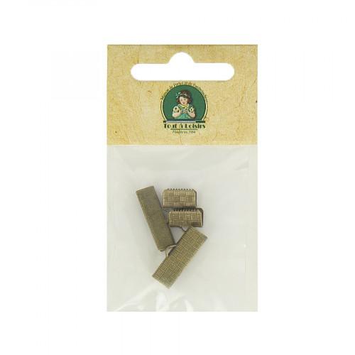 Assortiment d'embouts pour ruban - Bronze - Taille aléatoire de 10 à 20 mm
