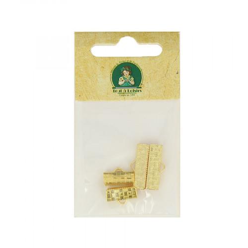 Assortiment d'embouts pour ruban - Or - Taille aléatoire de 13 à 20 mm
