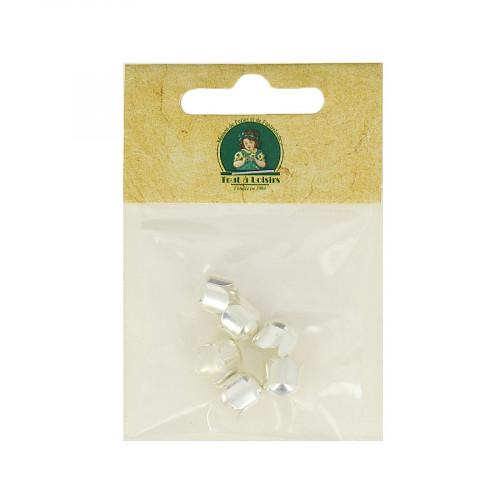 Clochettes à torsade - Argenté - Ø 8 mm