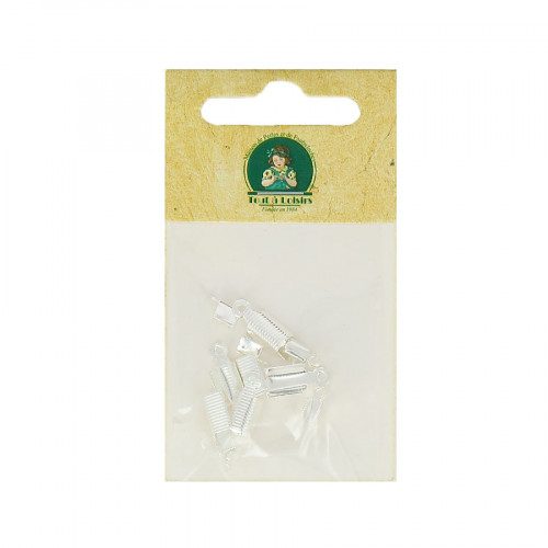 Assortiment d'embouts lacet - Argent - Taille aléatoire de 7 à 15 mm