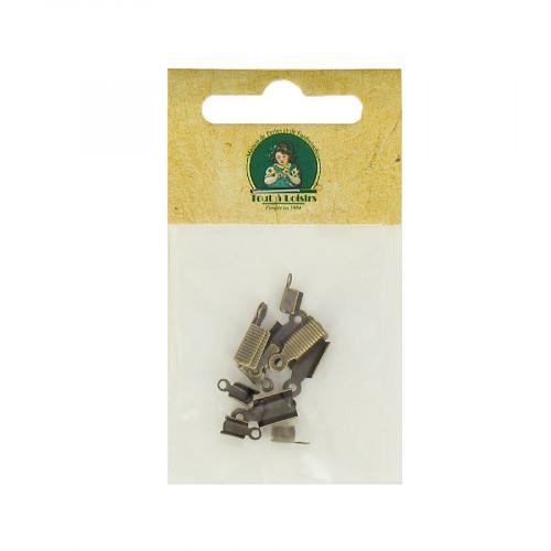 Assortiment d'embouts lacet - Bronze - Taille aléatoire de 7 à 12 mm