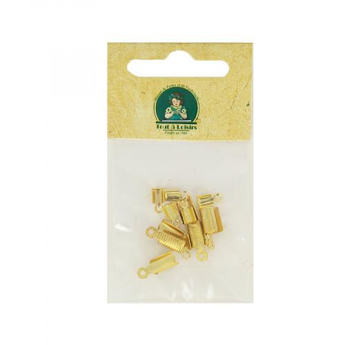 Assortiment d'embouts lacet - Or - Taille aléatoire de 7 à 12 mm