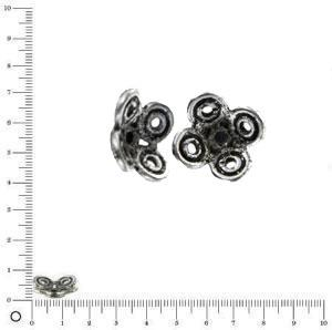 Coupelle Ø 15 mm - Argenté vieilli - x 2