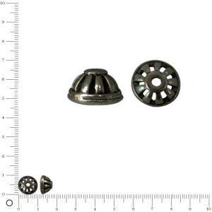 Coupelle Ø 10 mm - Black nickel - x 2