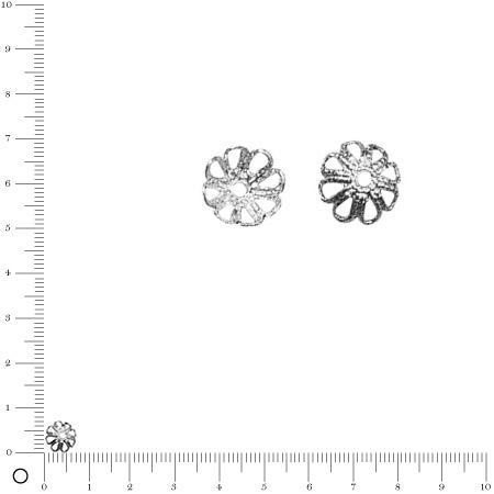 Coupelle - Ø 7 mm - Argenté vieilli - x 20