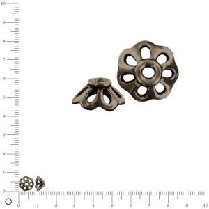 Coupelle Ø 8 mm - Black nickel - x 2