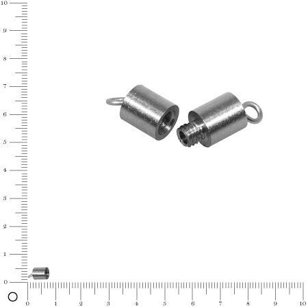 Fermoir à vis L. 11 mm - Acier inoxydable