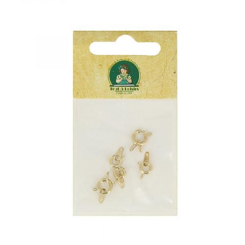 Assortiment de fermoirs à ressort - Or - Taille aléatoire de 8 à 10 mm