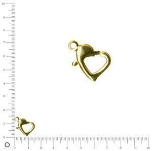Fermoir cœur L. 12 mm - Doré