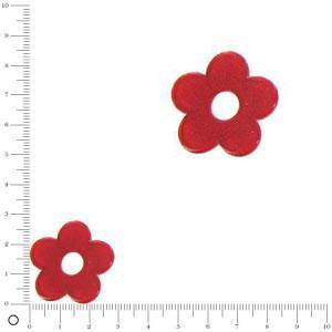 Breloque fleur pour bague à monter Ø 28 mm - Rouge