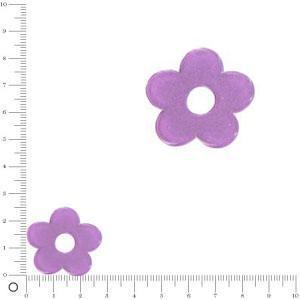 Breloque fleur pour bague à monter Ø 28 mm - Violet
