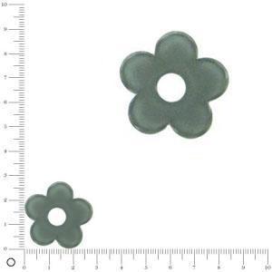 Breloque fleur pour bague à monter Ø 28 mm - Gris anthracite