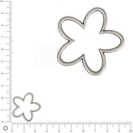 Anneau intercalaire Fleur - argenté - 2,5 cm - 1 pièce