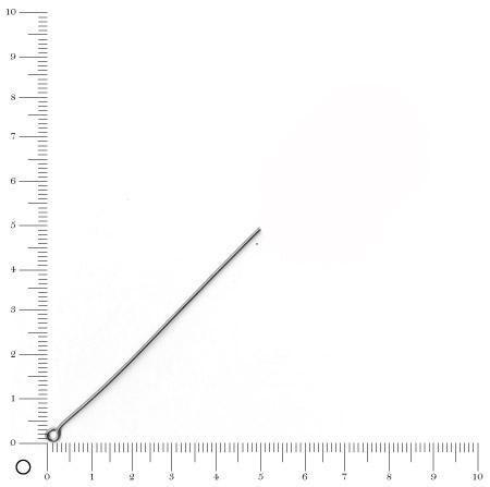 Tige boucle - 50 mm - Argenté vieilli - x 50