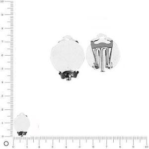 Clips d'oreilles - Ø 12 mm - Argenté