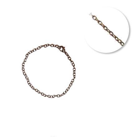 Chaine bracelet - Petites mailles 2 mm - 20 cm - Bronze