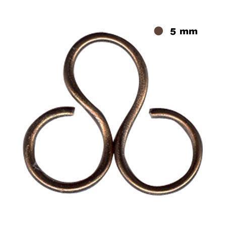 Fil aluminium 5mm - Chocolat 10m