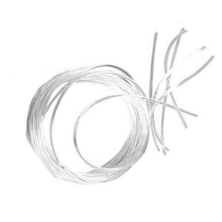 Fil élastique Ø 1 mm - Blanc x 5 m