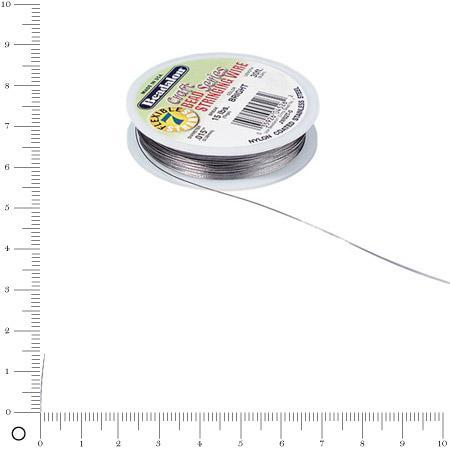 Fil cable - Ø 0,38 mm - Argenté x 9,2 m