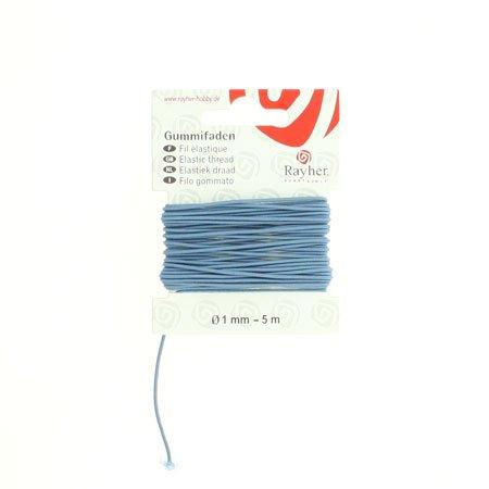 Fil élastique - Bleu -0,1 cm x 5 m