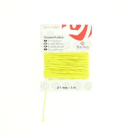Fil élastique - Jaune - 0,1 cm x 5 m