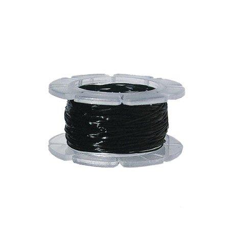 Fil de coton ciré - Noir - 1 mm x 5 m
